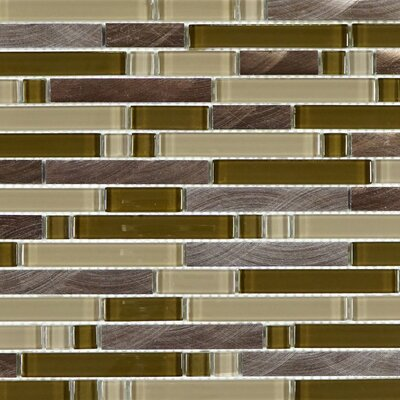 Random Sized Metal Mosaic Tile in Brown/Beige