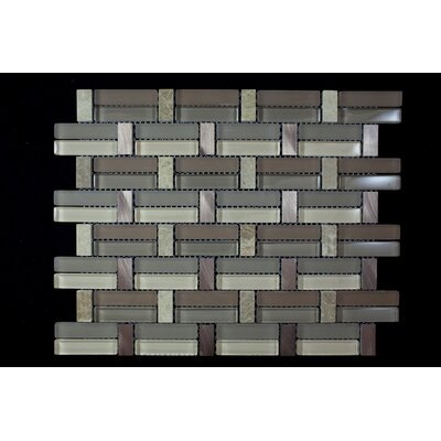 Random Sized Mixed Material Tile in Gray/Brown