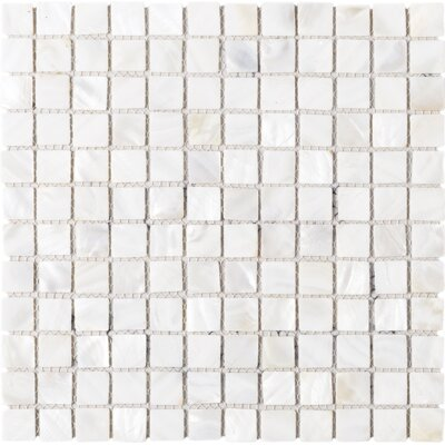 Mother of Pearl 1 x 1 Seashell Tile in Beige