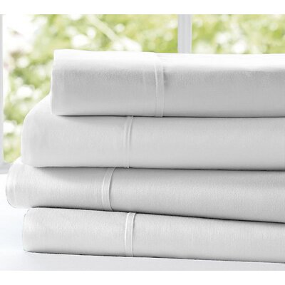 Gilley 300 Thread Count 100% Cotton Flat Sheet Color: White