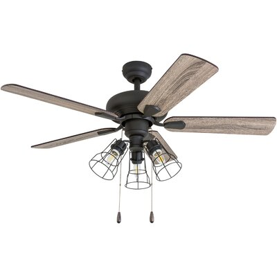 42 Rayborn 5 Blade LED Ceiling Fan Accessories: Standard No Remote