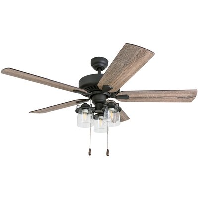 52 Pankey 5 Blade LED Ceiling Fan Accessories: Standard No Remote