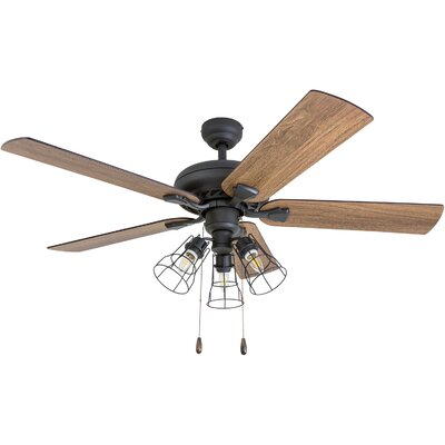 52 Ravenscourt 5 Blade LED Ceiling Fan Accessories: Standard No Remote
