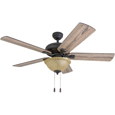 52 Tynes 5 Blade Ceiling Fan Accessories: Standard No Remote