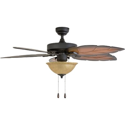 52 Peletier 5 Blade Ceiling Fan Accessories: Standard No Remote