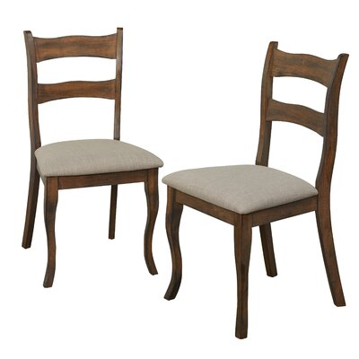Heslin Solid Wood Dining Chair Color: Brown