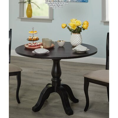 Heslin Dining Table Color: Black