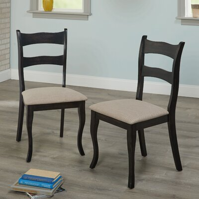 Heslin Solid Wood Dining Chair Color: Black