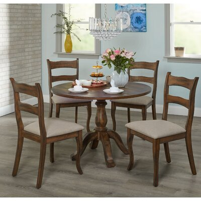 Heslin 5 Piece Dining Set Color: Brown