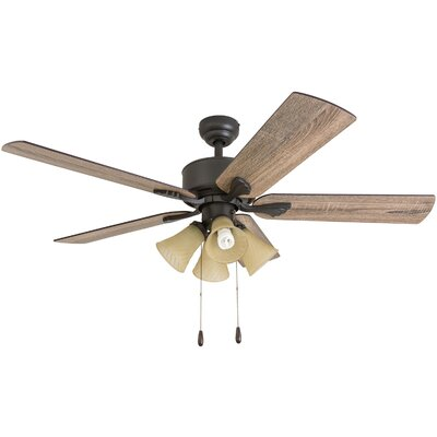 52 Ugaddan 5 Blade Ceiling Fan Accessories: Standard No Remote