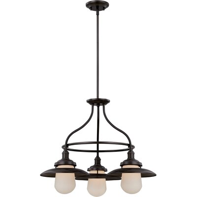Kedzie 3-Light Kitchen Island Pendant Finish: Bronze