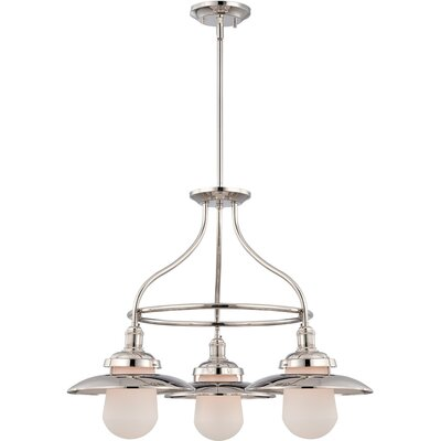 Kedzie 3-Light Kitchen Island Pendant Finish: Nickel