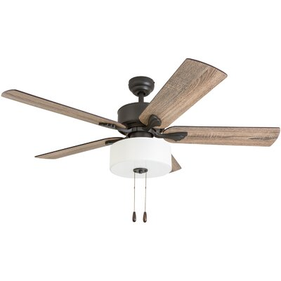 52 Pannell 5 Blade LED Ceiling Fan Accessories: Standard No Remote