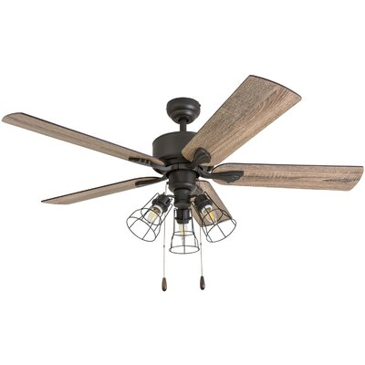52 Rankins 5 Blade LED Ceiling Fan Accessories: Standard No Remote