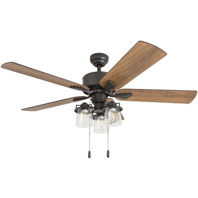 52 Osteen 5 Blade LED Ceiling Fan Accessories: Standard No Remote