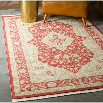 Willow Red Area Rug Rug Size: Rectangle 82 x 116