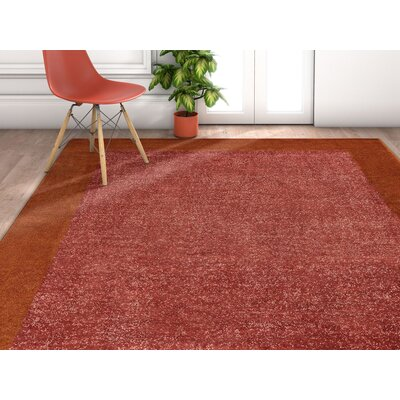 Ceri Solid Border Terra Area Rug Rug Size: Rectangle 53 x 73