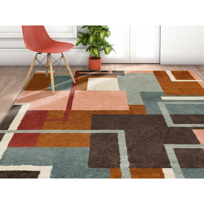 Camren Geometric Triangles Brown/Gray Area Rug Rug Size: Rectangle 53 x 73
