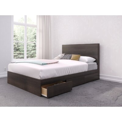 Parton Platform Bed Size: Full, Bed Frame Color: Walnut