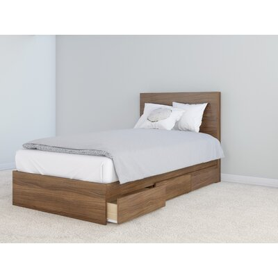 Parton Platform Bed Size: Twin, Bed Frame Color: Ebony