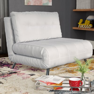 Leola Convertible Chair Upholstery: White