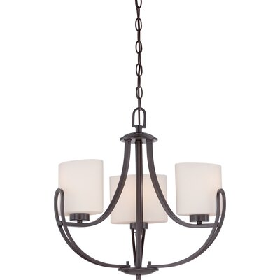 Kearse 3-Light Mini Chandelier Finish: Bronze