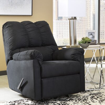 Parthena Manual Rocker Recliner Upholstery: Black