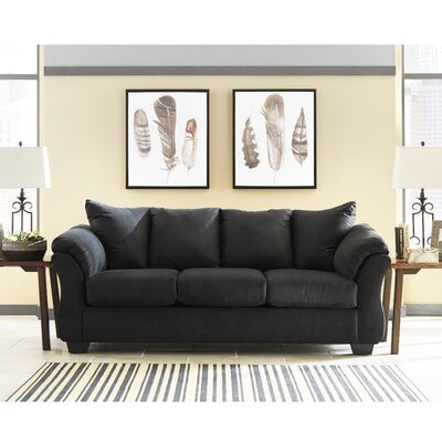 Parthena Sofa Upholstery: Black