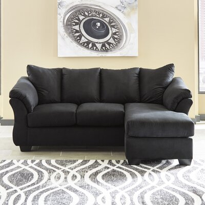 Parthena Sectional Upholstery: Black