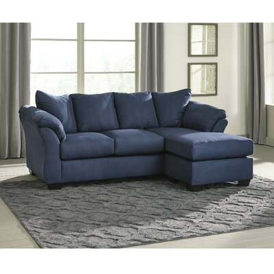 Parthena Sectional Upholstery: Blue