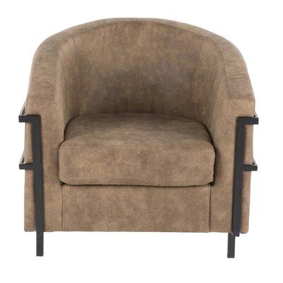 Troxler Barrel Chair Upholstery: Brown