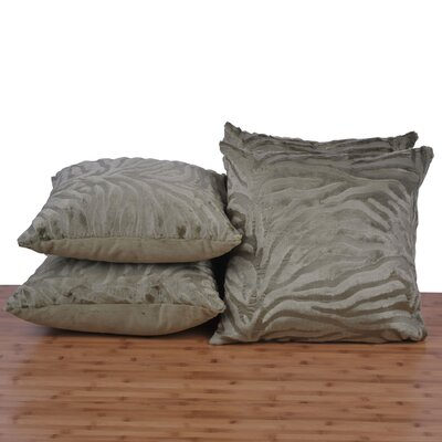 Mullis Embossed Pillow Cover Color: Olive