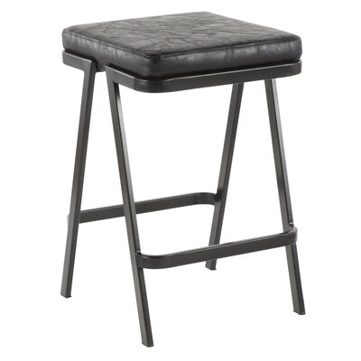 Hofer 25 Bar Stool Upholstery: Black
