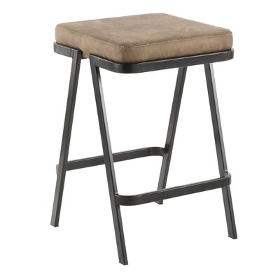 Hofer 25 Bar Stool Upholstery: Brown