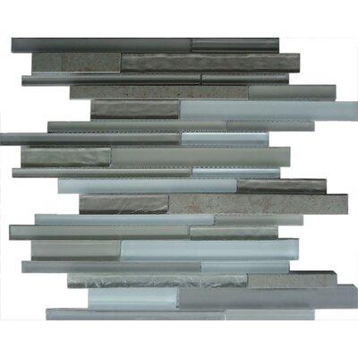 Random Sized Glass Mosaic Tile in Gray