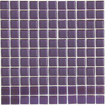 Crystal 1 x 1 Glass Mosaic Tile in Purple
