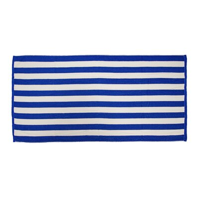 Antonie Cabana Stripe Loop Microfiber Beach Towel Color: Royal