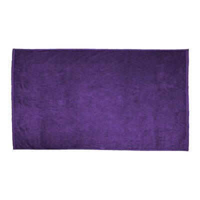 Velour Beach Towel Color: Purple