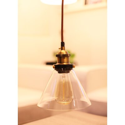 Hedge Industrial 1-Light Mini Pendant Shade Color: Clear