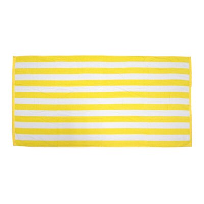 Antonie Cabana Stripe Loop Microfiber Beach Towel Color: Yellow
