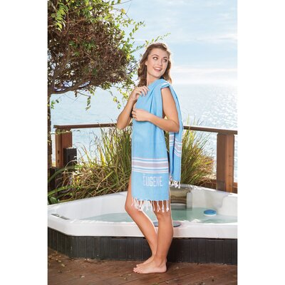 Anni Turkish Peshtemal Beach Towel Color: Gray