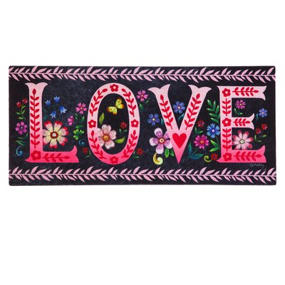 DeLussey Wildflower Love Chalkboard Sassafras Switch Doormat