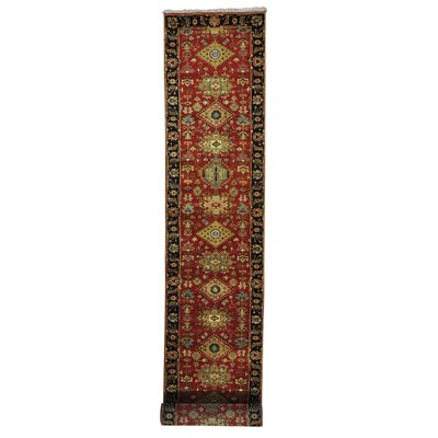 One-of-a-Kind Kempsford Oriental Hand-Knotted Wool Red Area Rug