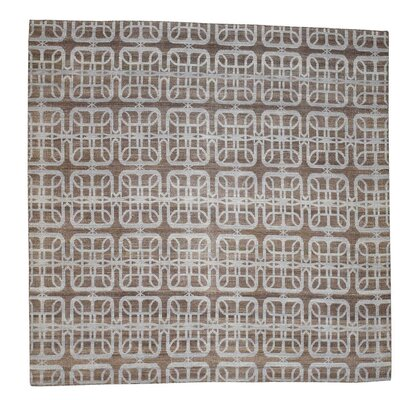 Flat Weave Reversible Durie Kilim Hand-Knotted Brown Area Rug