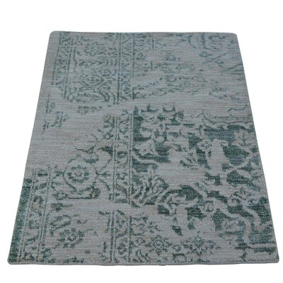 One-of-a-Kind Jude Broken Oriental Hand-Knotted Silk Area Rug