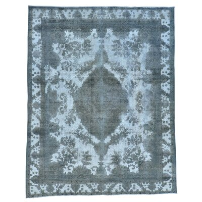 One-of-a-Kind Kenilworth Overdyed Barjasta Vintage Hand-Knotted Area Rug
