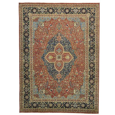 One-of-a-Kind Ruelas Vegetable Dyes Oriental Hand-Knotted Area Rug