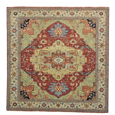One-of-a-Kind Rueter Vegetable Dyes Re-creation Hand-Knotted Area Rug