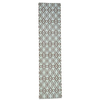 Durie Kilim Reversible Hand-Knotted Green Area Rug