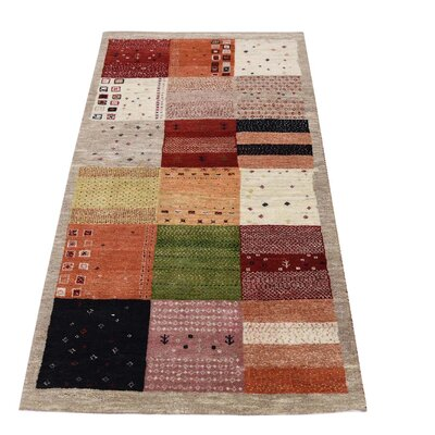 One-of-a-Kind Rothenberg Patchwork Hand-Knotted Area Rug